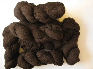 Jessica's Brown Merino Fleece Handspun Yarn