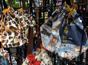 Very hard to resist; Harry Potter AND Dr. Who project bags!